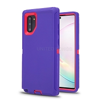 Samsung Galaxy Note 10 New Heavy Duty Defender Case Purple/Pink